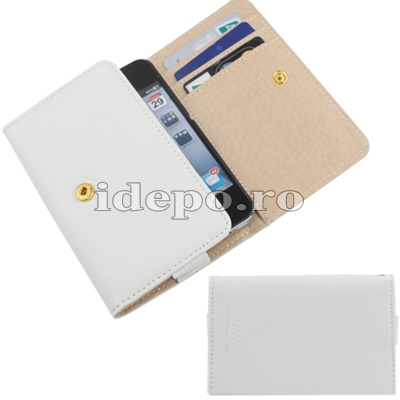 Husa iPhone 4,4S  <br> OMO Leather White<br> Accesorii iPhone 4S