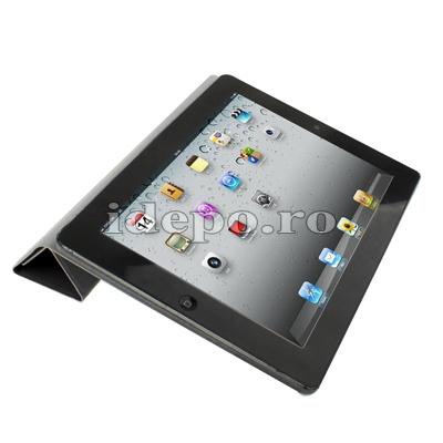 Husa iPad, iPad 2, iPad 3, iPad 4, iPad Air - 9.7 INCH <BR> Smart Cover - Black