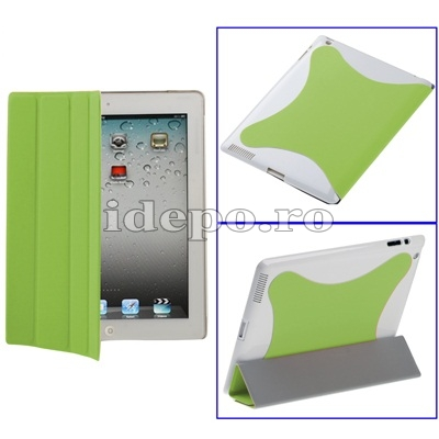 Husa iPad 2 <br> Smart Cover Green <br> Functie hibernare