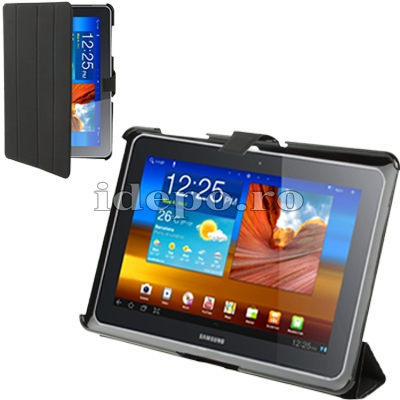 Husa Samsung Galaxy Tab 10.1 <br> TAB 2 (P5100), TAB 10 (P7510) <BR> Smart Cover - Black