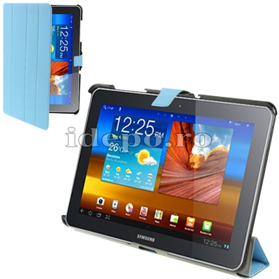 Husa Samsung Galaxy Tab 10.1 <br> TAB 2 (P5100), TAB 10 (P7510) <BR> Smart Cover - Blue