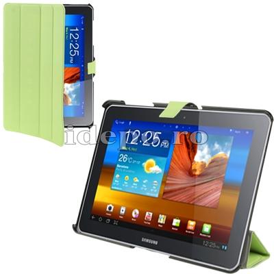 Husa Samsung Galaxy Tab 10.1 <br> TAB 2 (P5100), TAB 10 (P7510) <BR> Smart Cover - Lime
